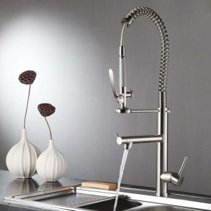 spring spray swivel spout kitchen tap