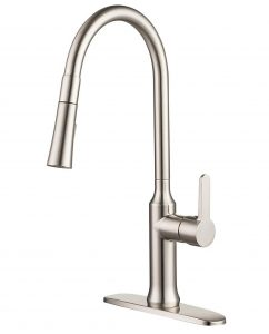 3 hole kitchen faucet with pull out sprayer