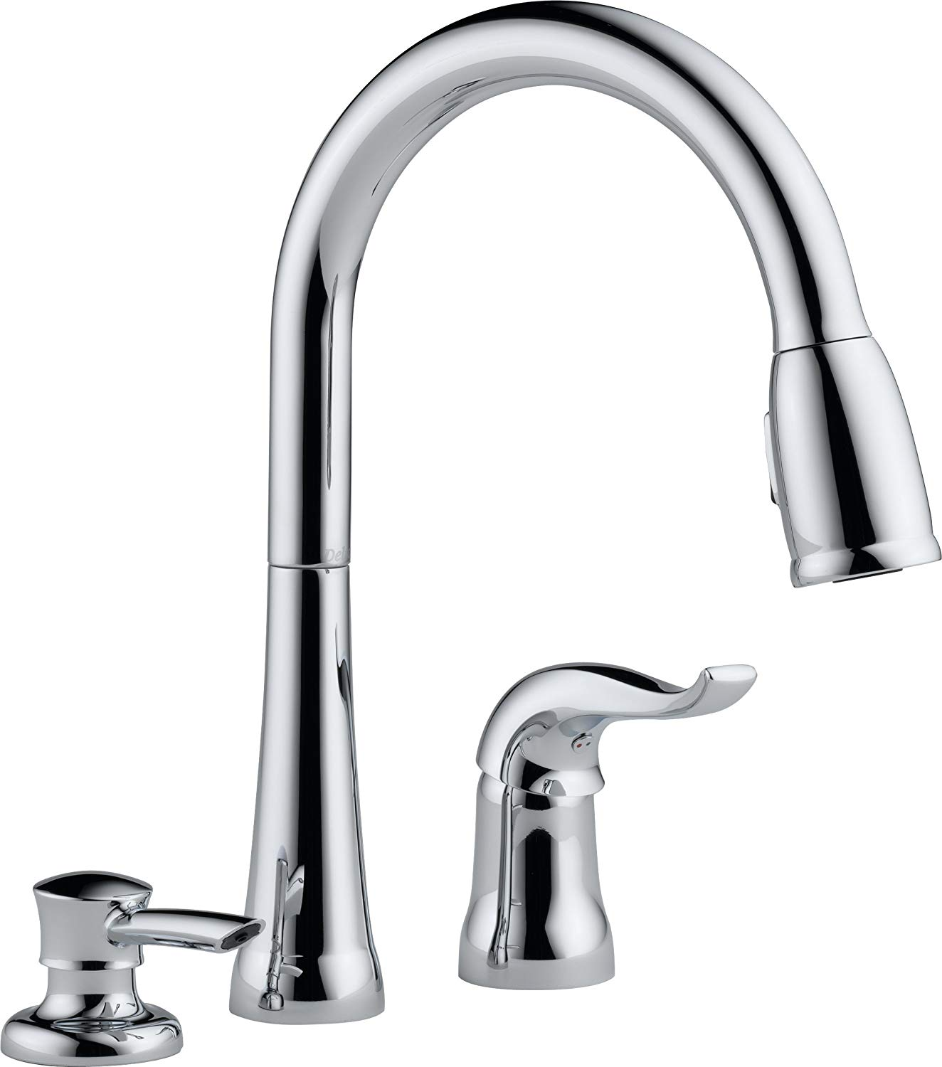 3 Hole Pull Down Kitchen Faucet