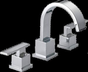 two-handle widespread bathroom faucet - delta vero