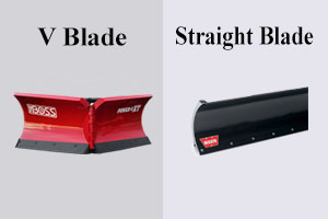 V blade and straight blade difference image